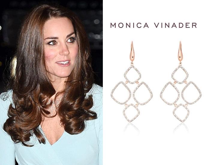 Monica Vinader 'Riva' diamond cluster drop earrings