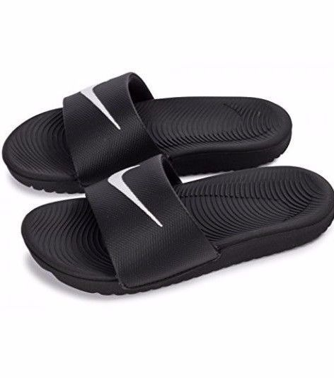 new arrival a6bfe 3a289 Details about Nike Kawa Slide GS 819352-001 Black / White ...