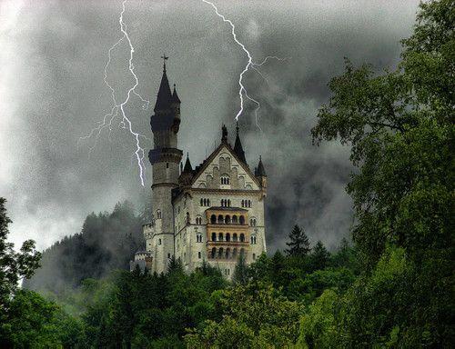 Dark Shadows, Neuschwanstein Castle, Germany  photo via instant
