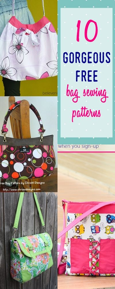 8 Totally Pro Looking Free Bag Patterns | Sewing patterns, Handbag ...