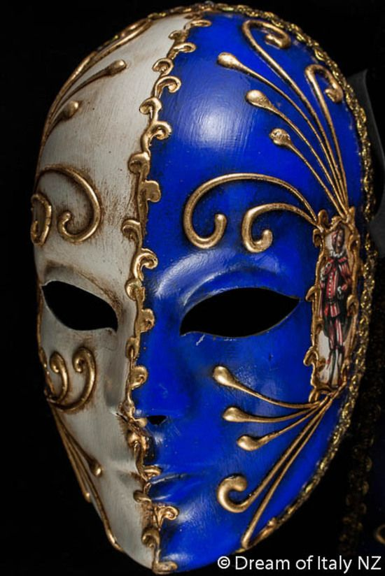 Decorative Venetian Masks Beauteous Full Masquerade Masks  Volto Commedia Bicolore Blue 2 #italian 2018