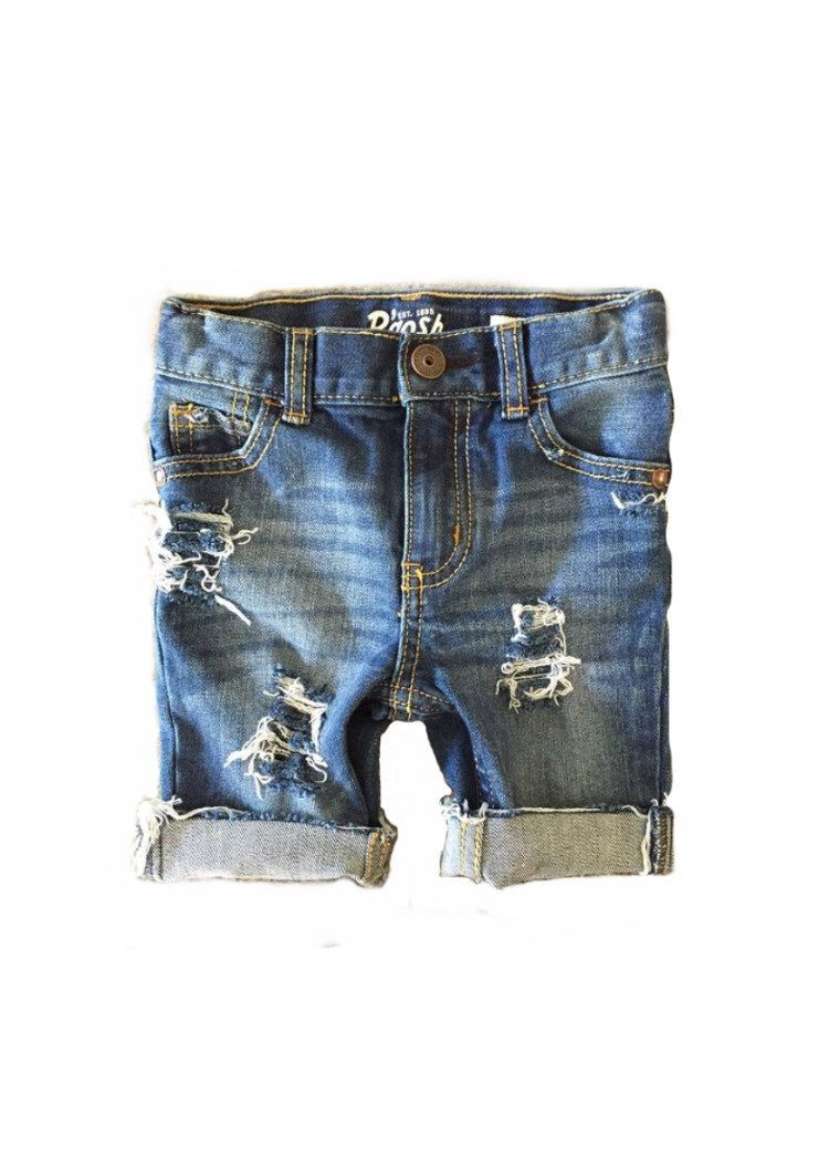 9dd83e464b Distressed denim shorts made with love especially for your little one.  Available in sizes 6M-5T(infant/toddler) and sizes 6-8(kids). These shorts  are unisex ...