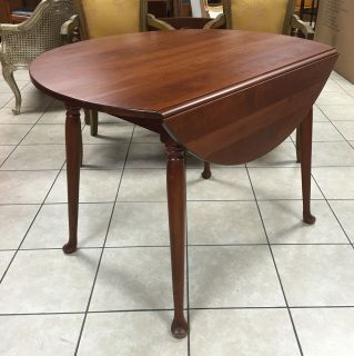 Solid Cherry Drop Leaf Table Made By Pennsylvania House. 2 Leaves Are Not
