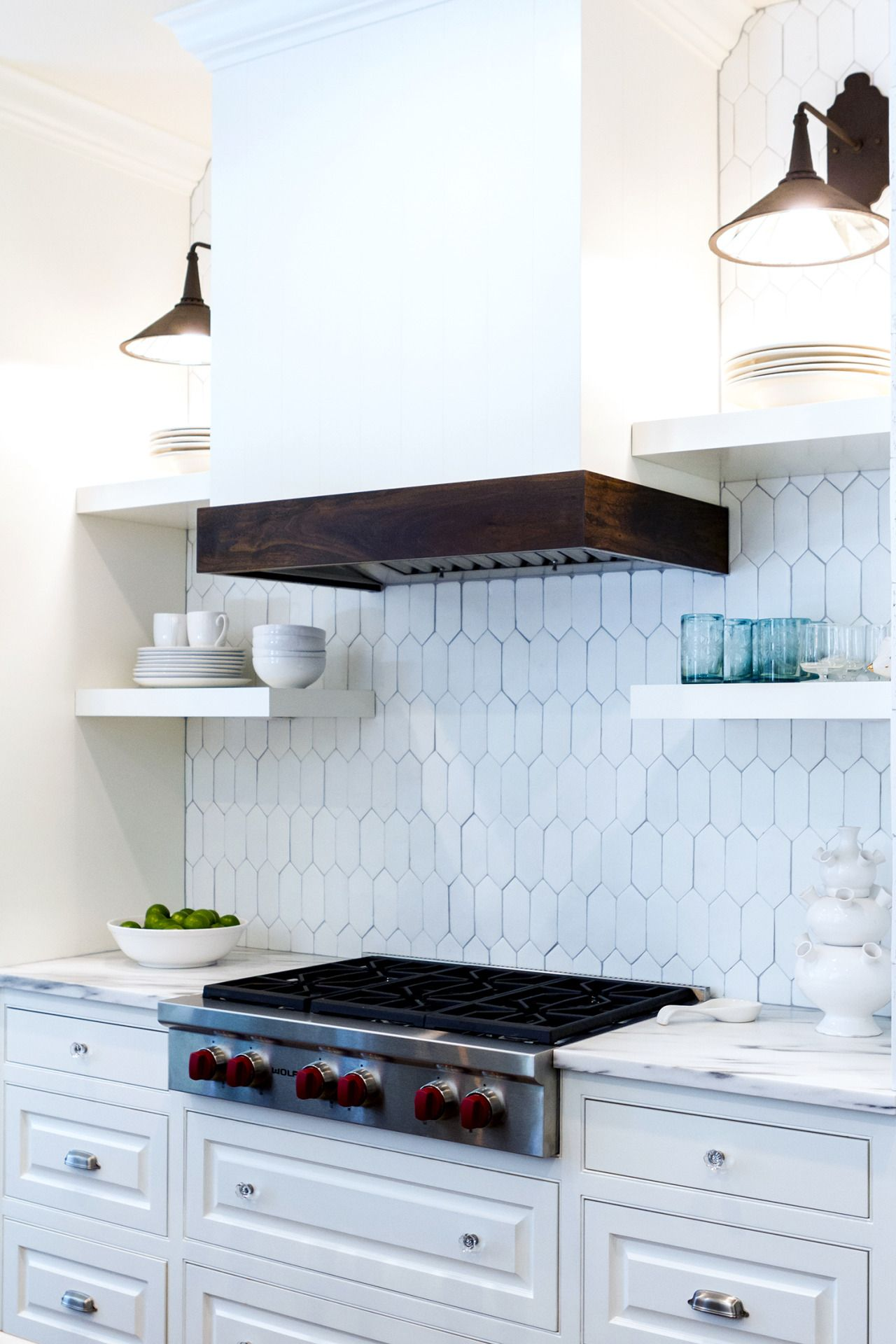 Long hexagon tiles #hexagon #backsplash #kitchen | For the Home ...