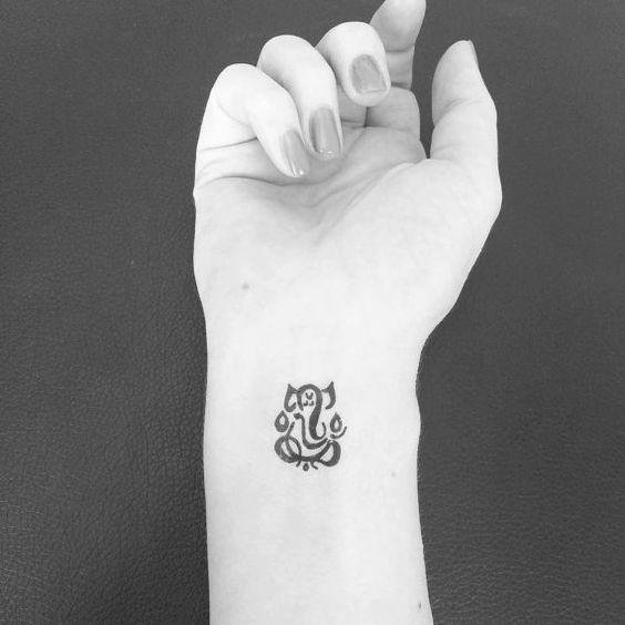 Tattoo Ideas Yoga: Temporary Tattoo Ganesha Yoga Tattoo Art Yoga By