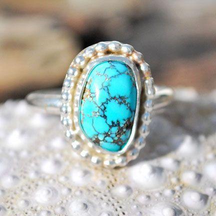 Spiderweb Turquoise Ring  Turquoise Ring  by EarthsBountyGems
