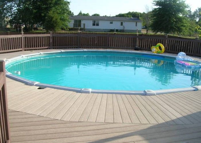 Above Ground Pool Decks For Sale >> Above Ground Pool And Maintenance Free Party Deck Dive In