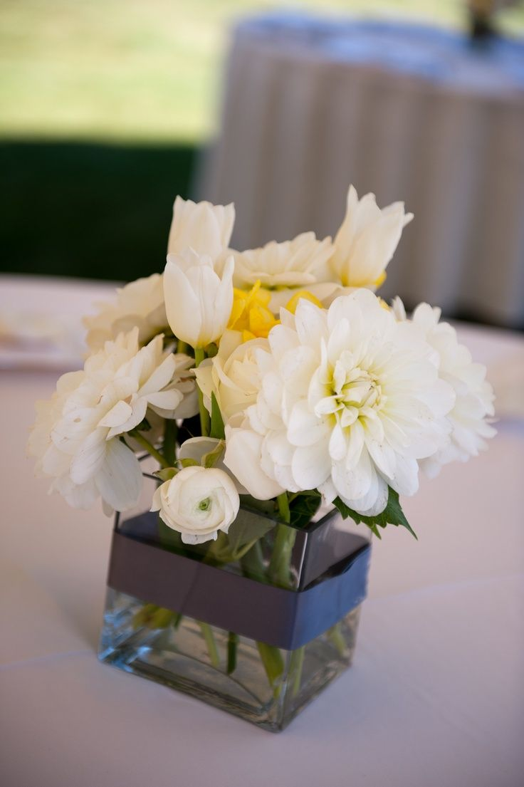 Gray+and+Yellow+Wedding+Bouquets | wedding flowers