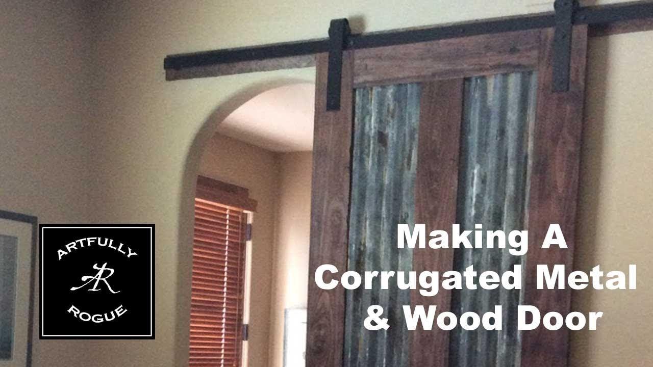 How To Build A Sliding Barn Door With Corrugated Metal Panels Youtube Diy Barn Door Corrugated Metal Metal Barn