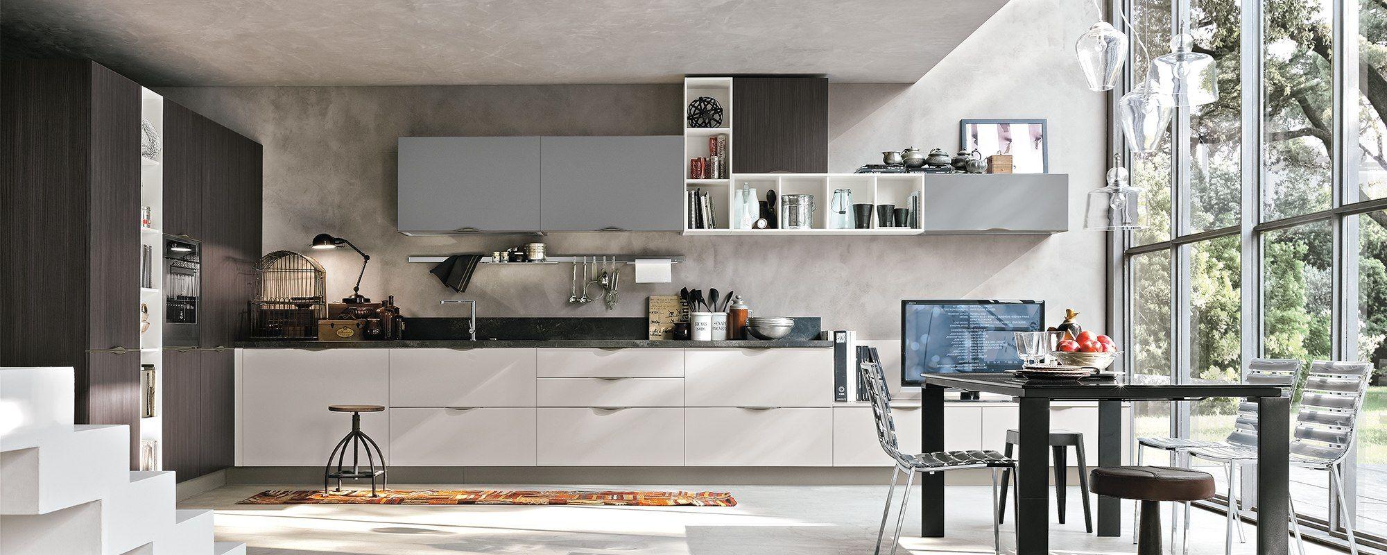 Arredamentifelicepalma Felicepalma Arredamenti Cucina Rewind Replay Moderne Penisola Legno Bia Progetti Di Cucine Cucina Moderna Interni Della Cucina