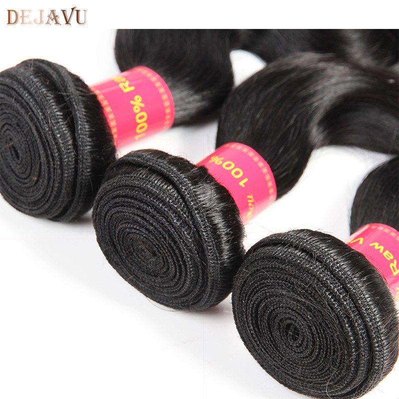 Dejavu Hair Peruvian Body Wave 3 Bundles With Closure Human