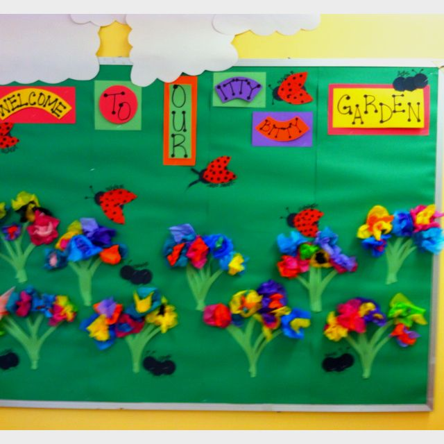 Spring Bulletin Board For My Classroom Pinterest Inspired Tissue