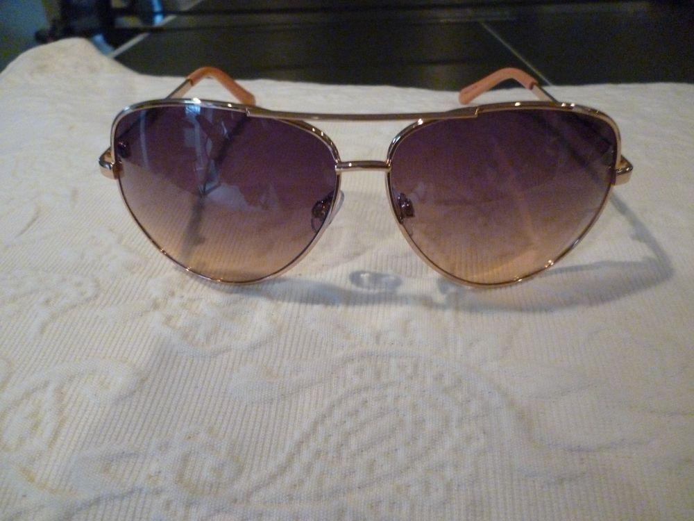 1764f4443f Liz Claiborne Sloane Rose Gold Aviator Sunglasses w  Bag  fashion  clothing   shoes