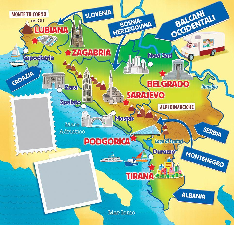 Croatia slovenia bosnia serbia map barbara bongini map croatia slovenia bosnia serbia map barbara bongini map illustration gumiabroncs Gallery