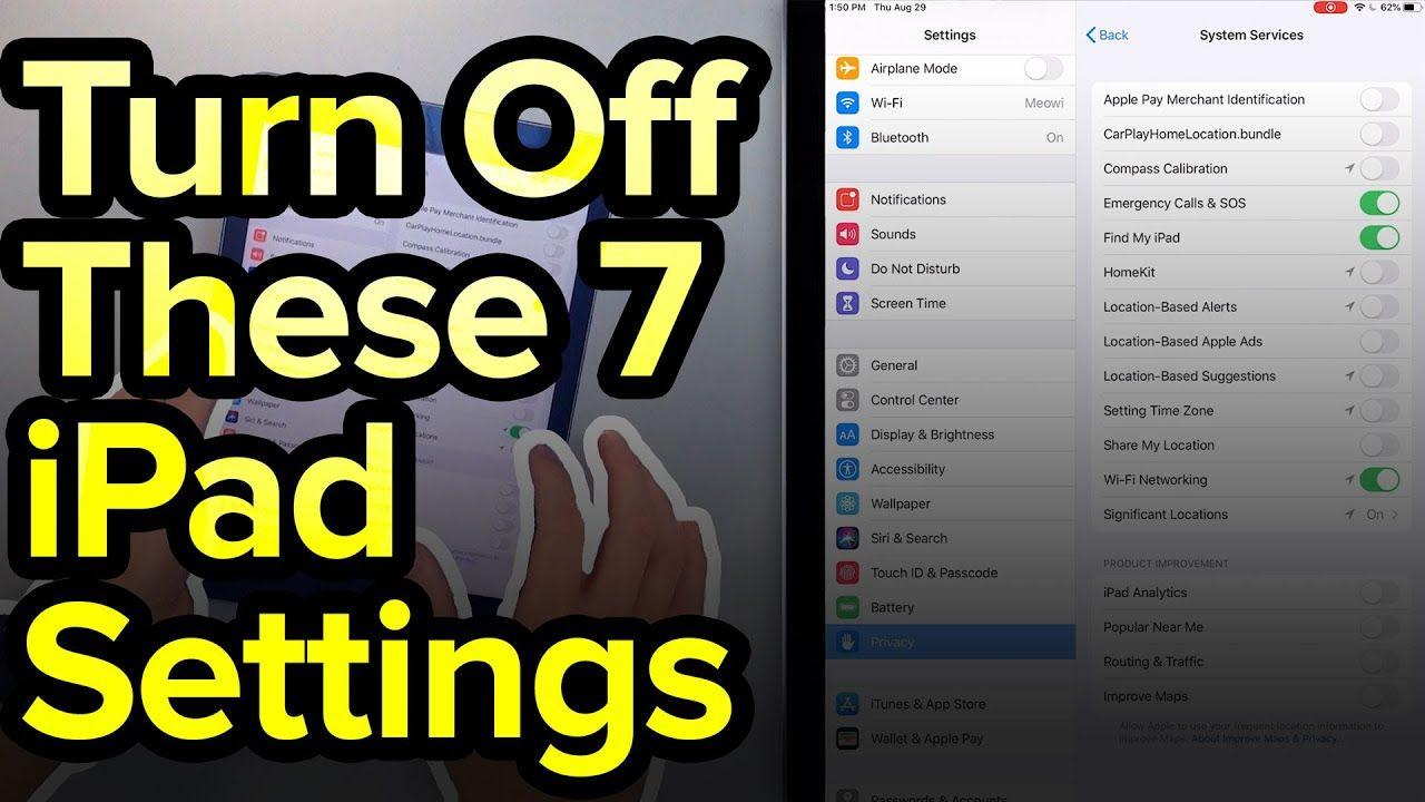 7 ipad settings you need to turn off now youtube turn