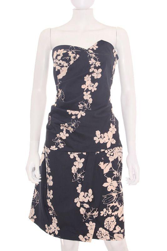 Para un evento especial con etiqueta de tienda Vestido Mujer - Kookai en Azul Marino Estampado Floral de Segunda Mano  Ropasion.com