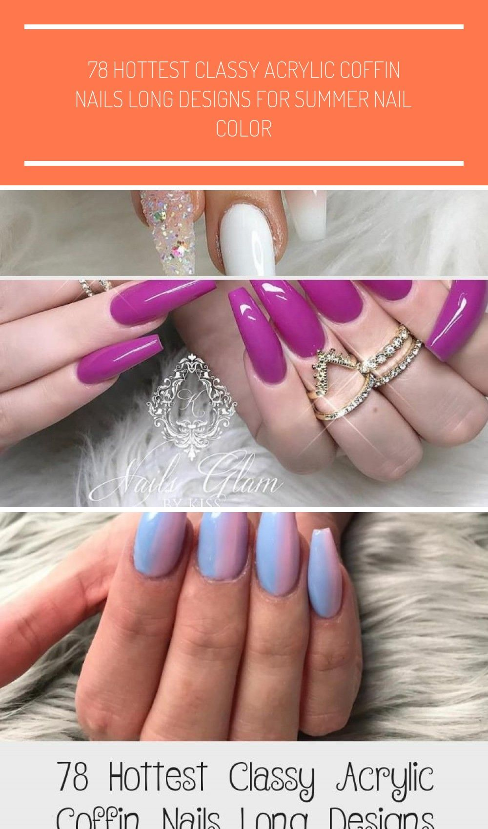 78 Heetste stijlvolle acryl doodskist nagels lange ontwerpen voor zomer nagel kleur – Fash …