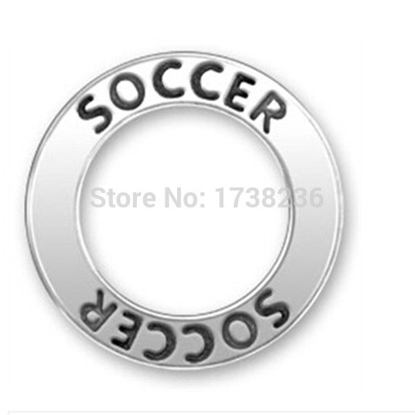 Soccer message ring charm for soccer player fashion jewelry ,soccer message circle charm ,soccer affirmation ring charm .