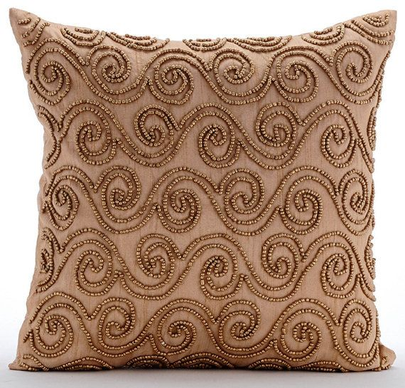 Decorative Scrolls Art Deco Throw Pillow Custom Etsy Decorative Throw Pillow Covers Throw Pillows Custom Gold Pillow Covers