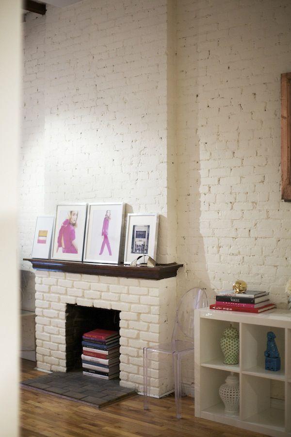 Beroemd stenen-muur-wit | Interieurs - Witte bakstenen, Bakstenen muren en @XL73