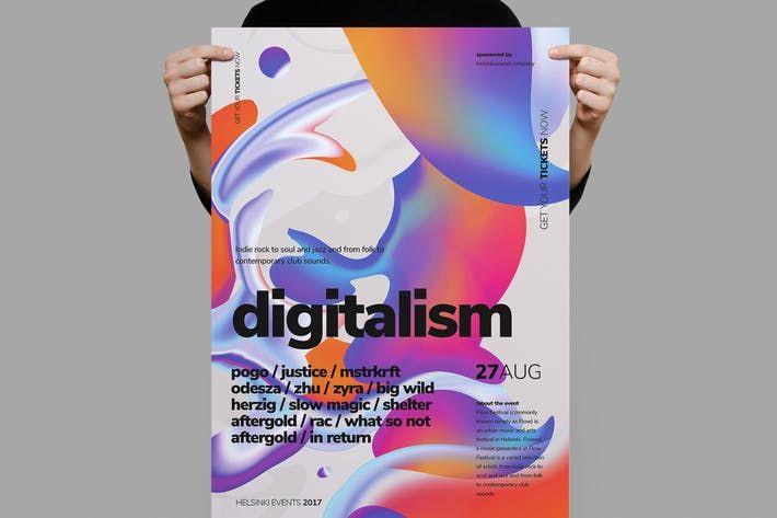 Digitalistm Poster   Flyer Graphic Design Pinterest Template - club flyer maker