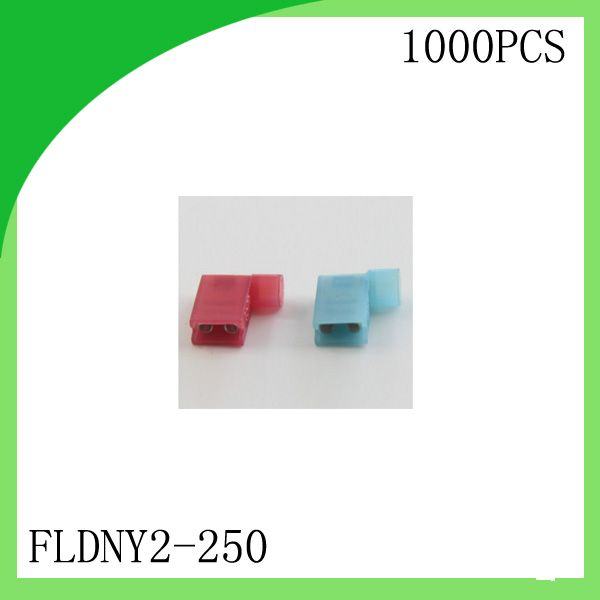 Brass 1000 Pcs Fldny2 250 Full Insulated Female Flag Crimp Terminal Cold Pressure Ternminal Insulated Crimps Cold