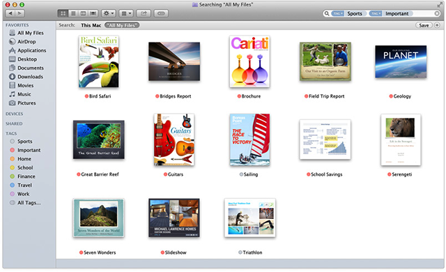 OS X Tags help you organize your files Osx, Tags