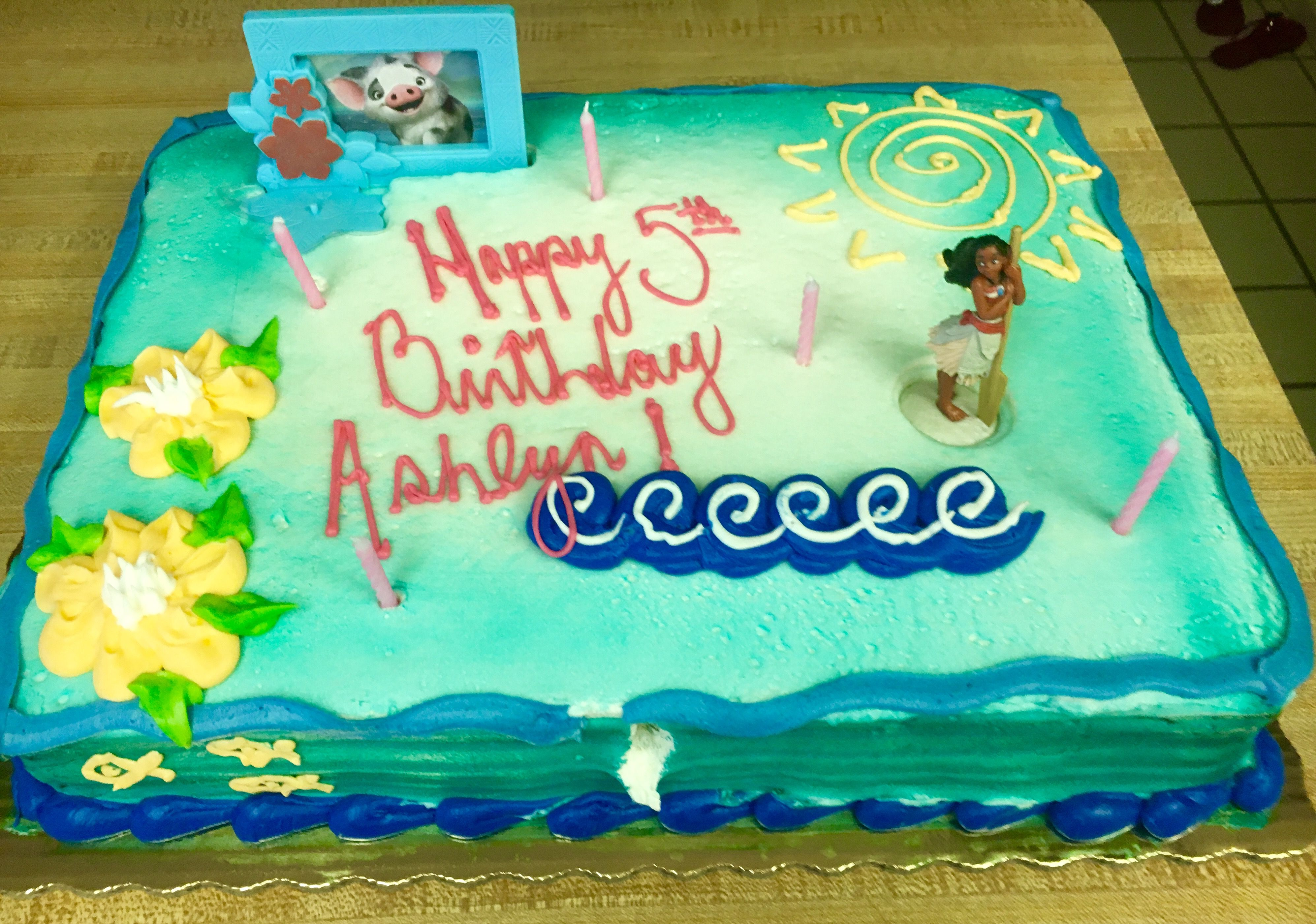 Cool Moana Birthday Cake Publix Buttercream With Images Moana Funny Birthday Cards Online Fluifree Goldxyz