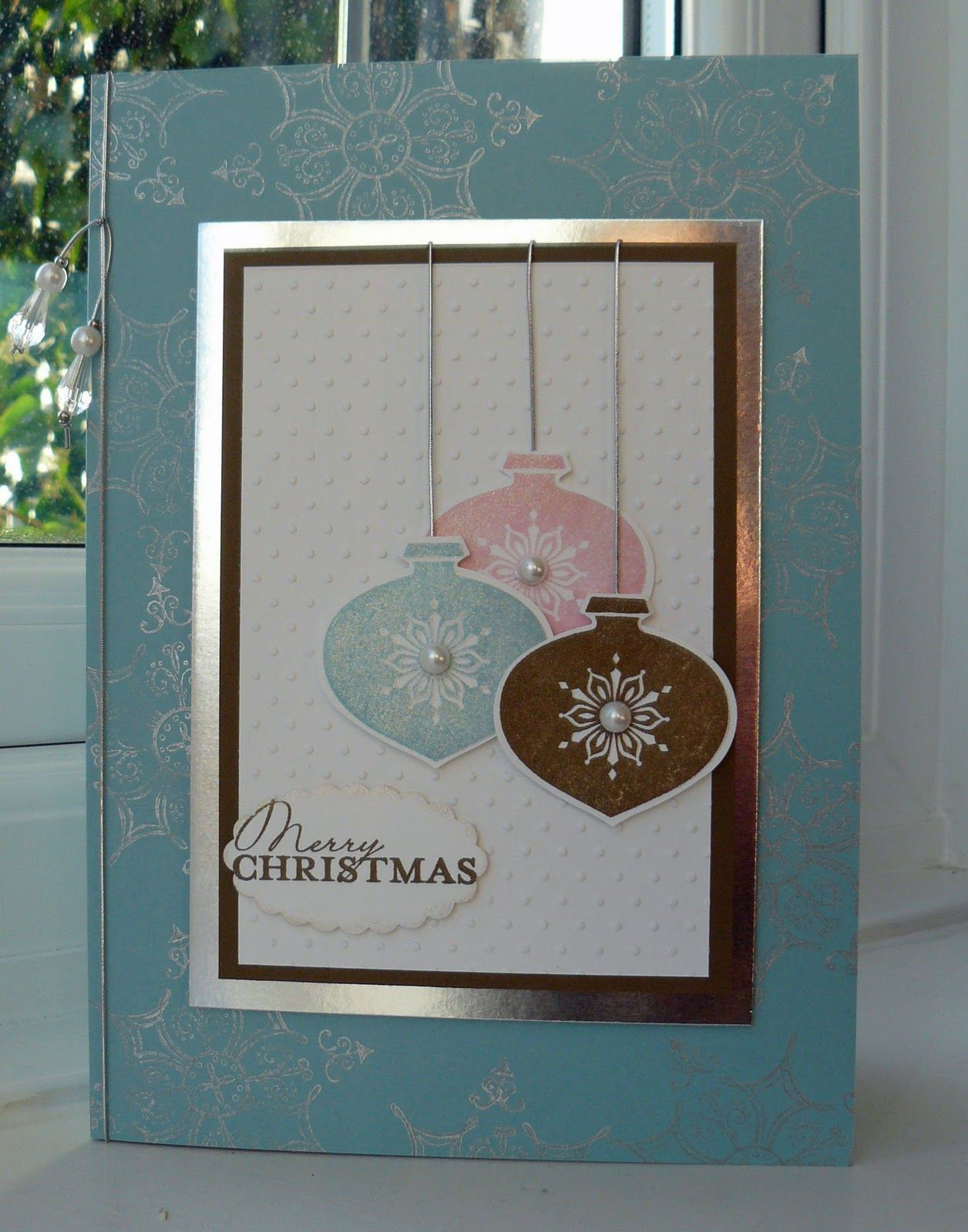 Stampin up christmas cards using ornament keepsakes cards to