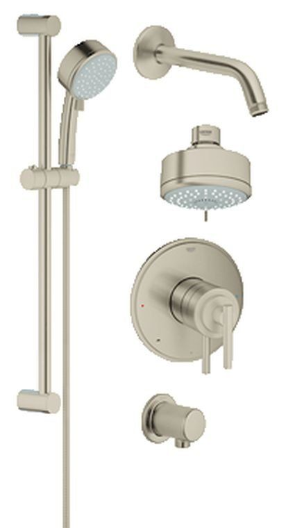 In Brushed Nickel Full Size Shower Faucet Tub Shower Faucets