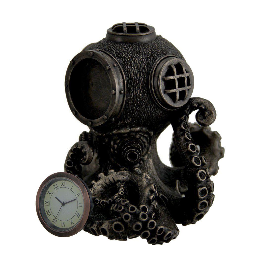 Steampunk Octopus Diving Bell Clock Statue