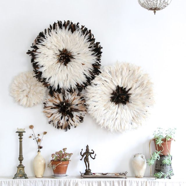 Juju Hat Cluster of Natural Feather