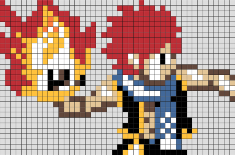 Fairy Tail Natsu Pixel Art Fairy Tail Art Pixel Art