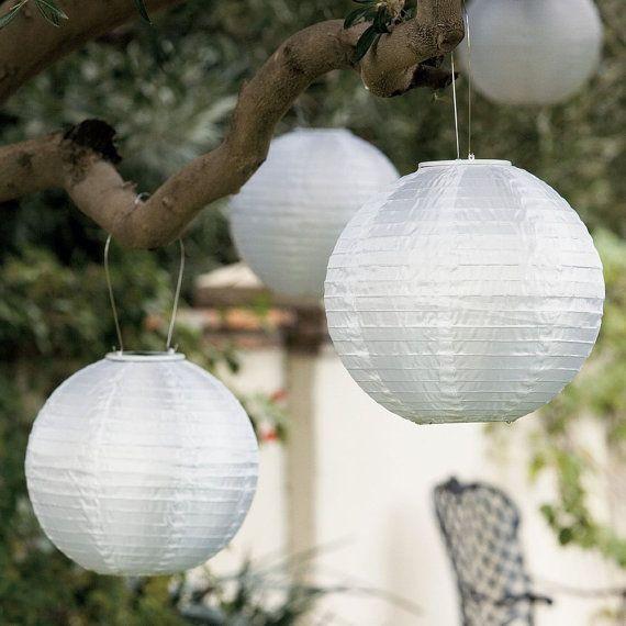 Round Paper Lantern Hanging Decor 10 Inch Etsy In 2020 Solar Garden Lanterns Solar Powered Lanterns Solar Lanterns