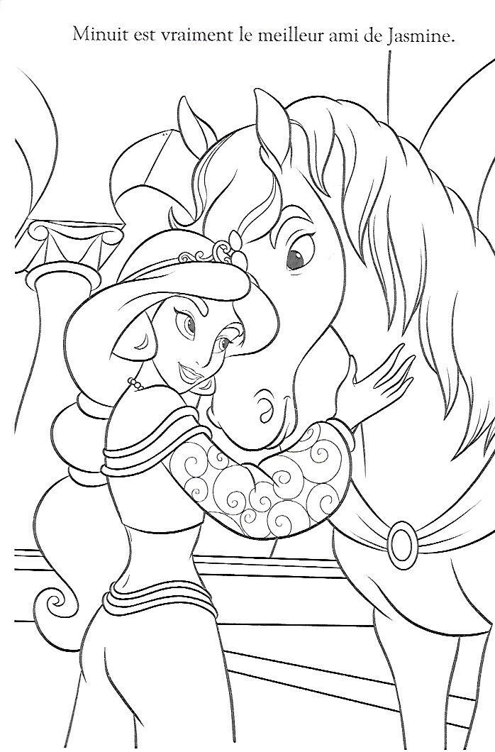 aladdin  jasmine  cinderella coloring pages princess
