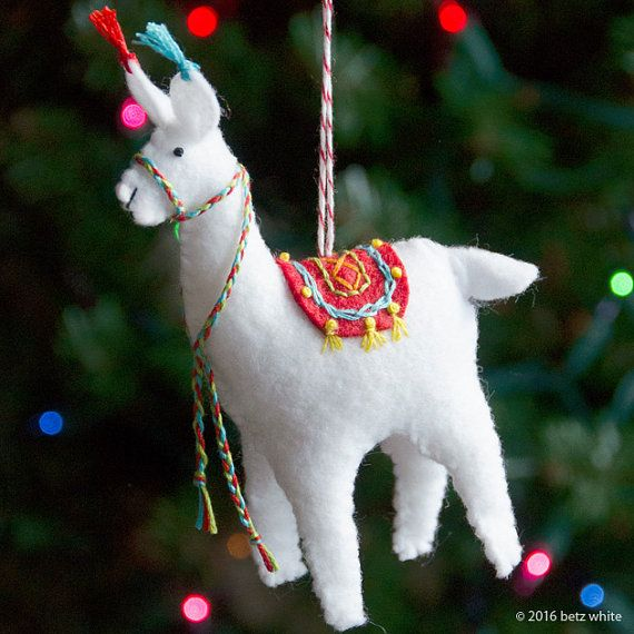 Llama Christmas Decorations.Fa La La La Llama Ornament Pdf Pattern Christmas Ornament
