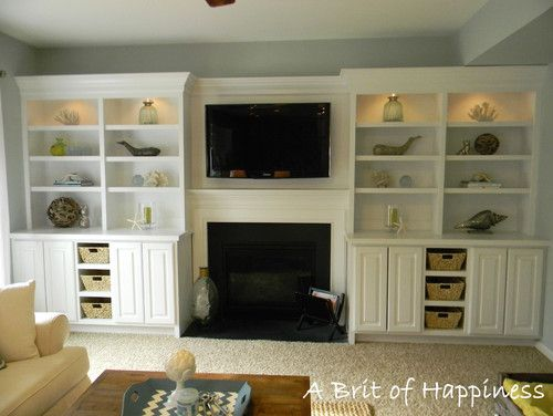 Stylish Storage Solutions For The Living Room Homes Com Family Room Bookshelves Built In Family Room Design