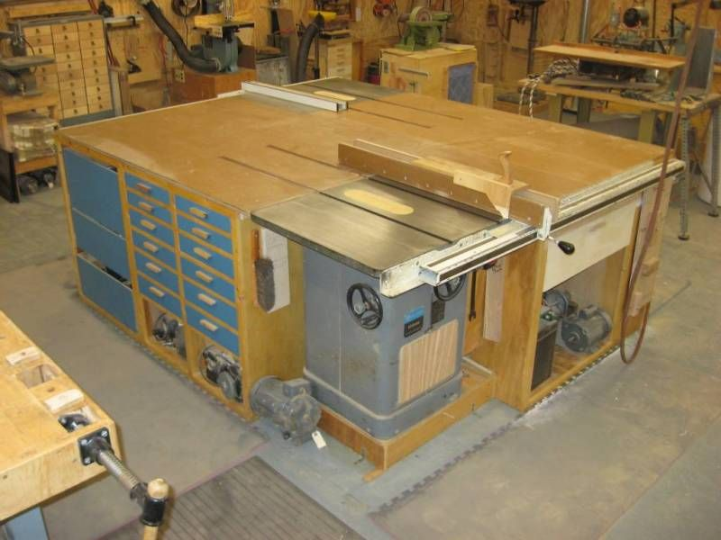 Tablesaw Outfeed Amp Wings For Small Garages Workshop