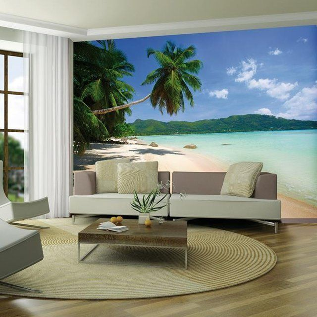 fancy tropical beach wall mural caribean living pinterest