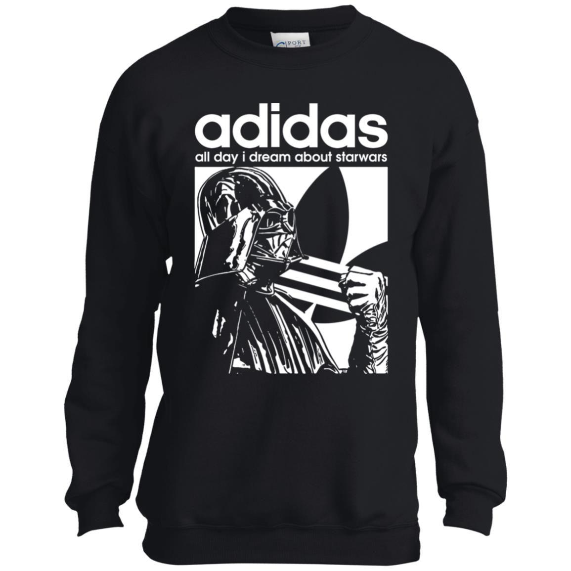Star Wars Adidas Darth Vader Youth Kids Sweatshirt Zamrie Sweatshirts Kids Sweatshirt Youth Sweatshirts [ 1155 x 1155 Pixel ]