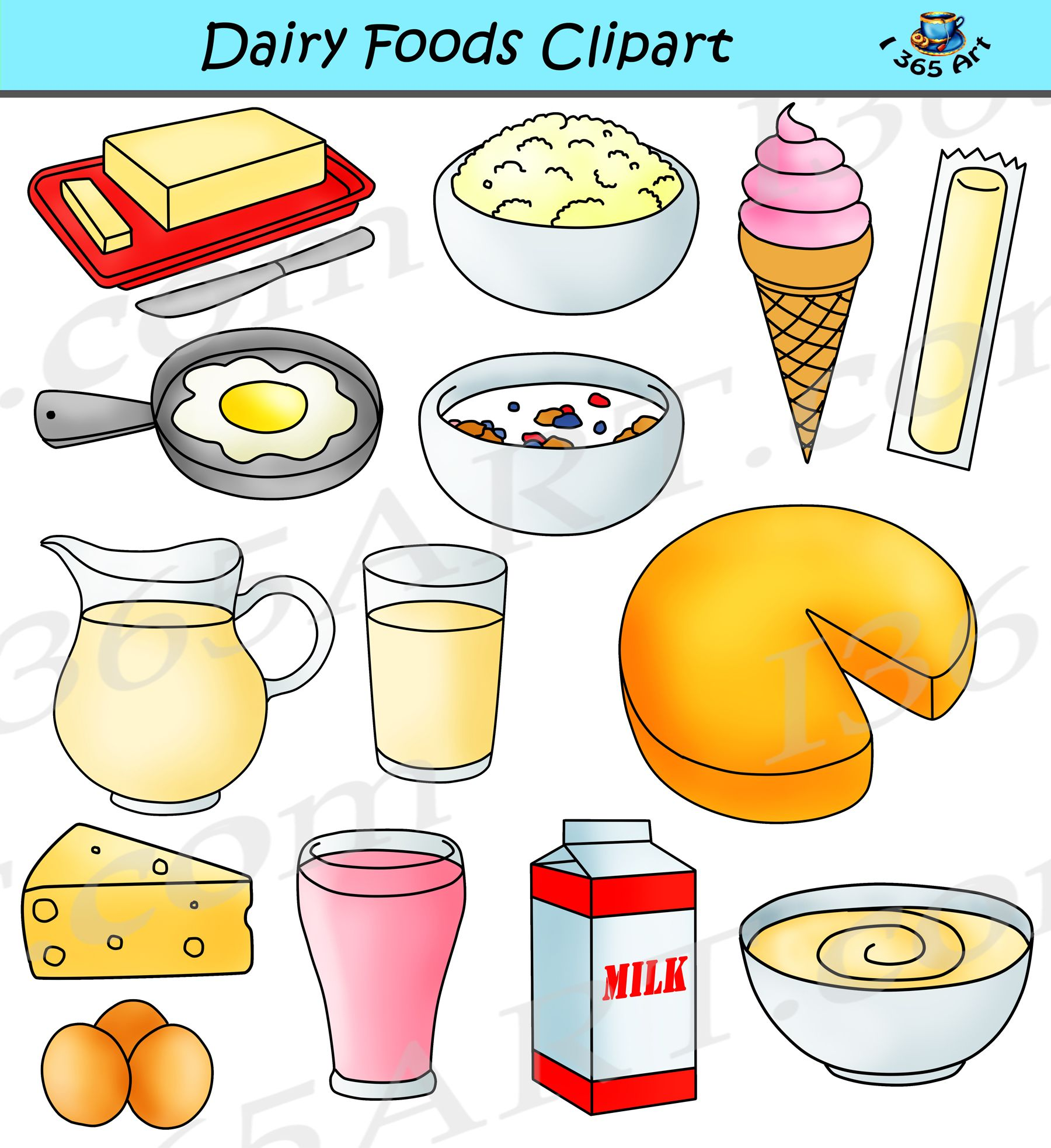 Dairy clipart graphics milk products download no dairy