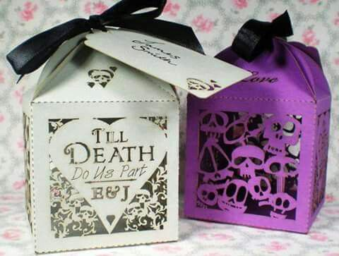 From The Previous Pinner Skulls Hearts Personalised Favour Bo Alternative Wedding Gothic Laser Cut By Thecrosseyedfox