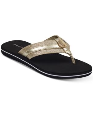 Tommy Hilfiger Capes Flip Flops Gold 11m Flip Flop Shoes Brown Flip Flops Flip Flops