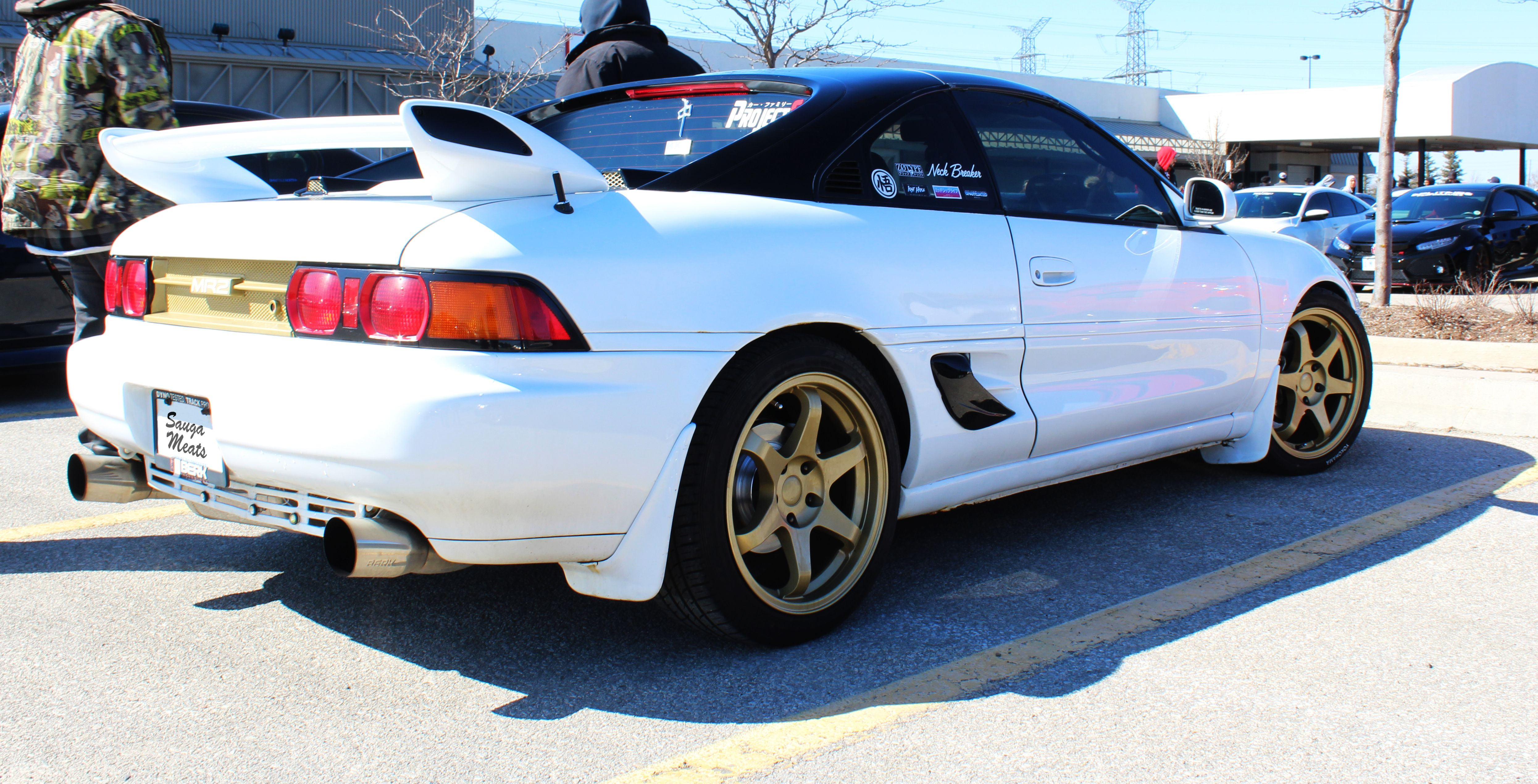 Toyota Mr2 White Body With Gold Wheels Is One Of The Sweetest