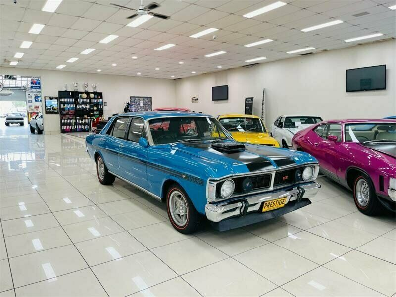 1969 Ford Falcon Xw Gt Electric Blue Automatic 3sp A Sedan In 2021 Ford Falcon Sedan Electric Blue