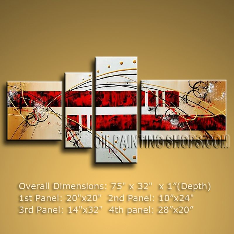 Hand Painted Large Modern Abstract Painting Wall Art Oil On Canvas ...