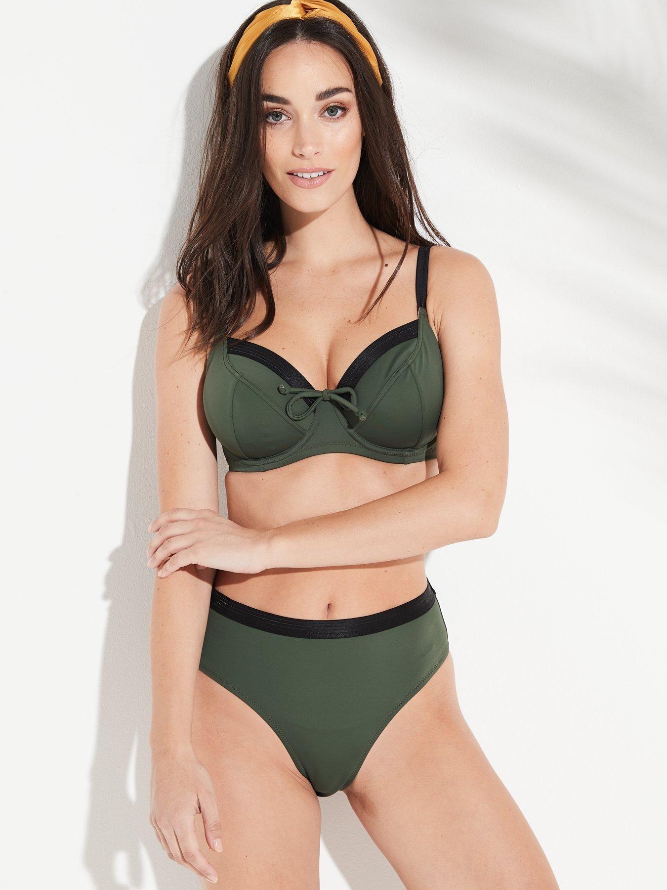 Womens Amnesia Underwired Convertible Top Bikini Pour Moi