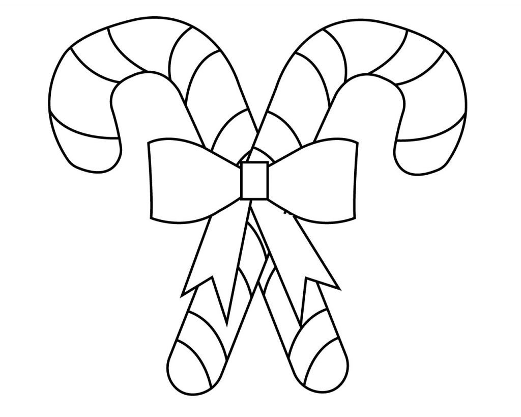 Printable Christmas Candy Cane Coloring Pages