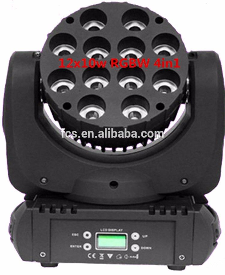 New Design 12x10w Rgbw 4in1 Dmx Wireless Led Moving Head Beam Led Stage Lights Cree Led Beams