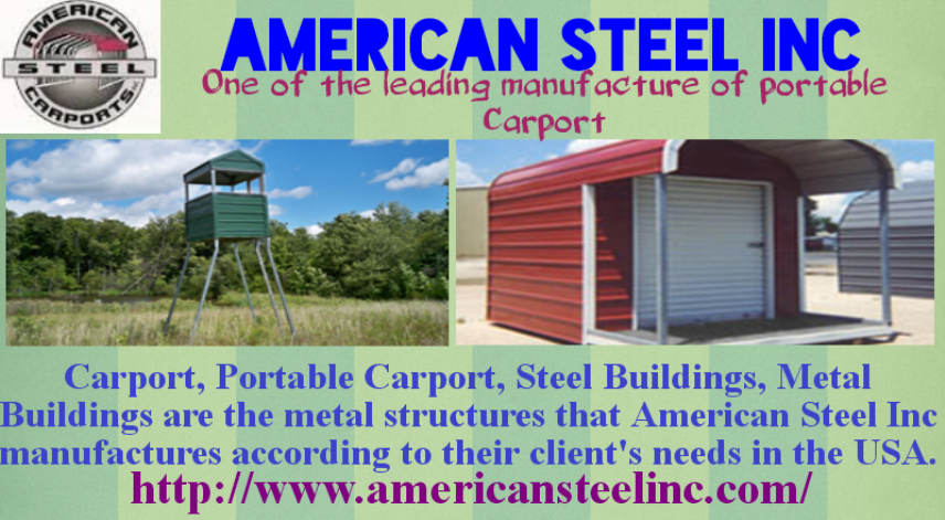 Http Www Americansteelinc Com Is The Manufacturer Of Portable Carport Steel Buildings In Usa Steel Carports Carport Steel Buildings
